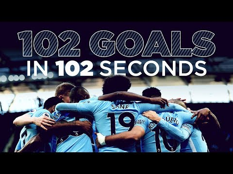 102 GOALS IN 102 SECONDS | EVERY 2017 PREMIER LEAGUE GOAL