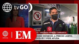 Edición Mediodía: Empresario que vende oxígeno a precio justo se contagió de Covid-19 (HOY)
