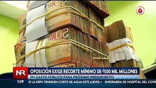 Oposición exige recorte mínimo de ?500 mil millones en presupuesto extraordinario