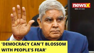 'Democracy Can't Blossom With People's Fear' | WB Guv Takes Dig At Mamata | NewsX - NEWSXLIVE