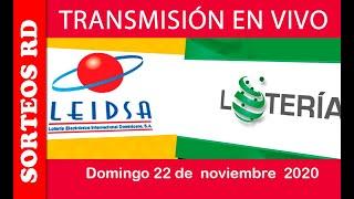 LEIDSA y Loteria Nacional en VIVO / Domingo 22 de noviembre 2020