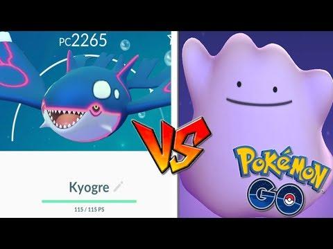connectYoutube - QUÉ PASA si USO DITTO CONTRA KYOGRE en Pokémon GO! Nuevo Legendario! [Keibron]