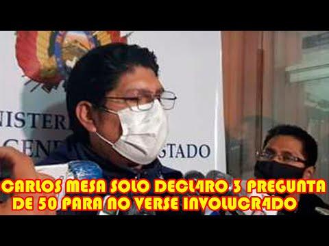 FISCALIA MENCIONÓ QUE CARLOS MESA NO QUISO D3CLARAR PARA NO VERSE P3RJUDICADO POR GOLP3 DE EST4DO.