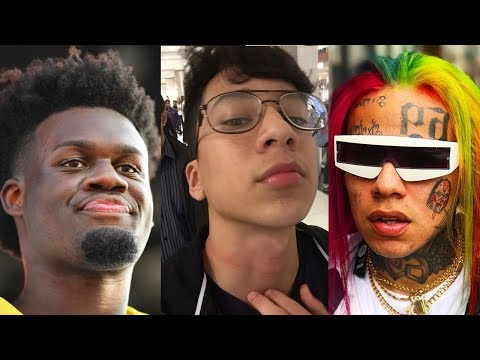 connectYoutube - Ugly God Reacts To 6ix9ine Tekashi69 Choking Fan at the Mall for Recording Him
