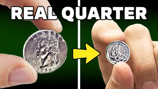 How to shrink a quarter with a high voltage electromagnet