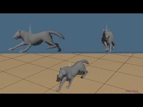 Generic Spine Model with Simple Physics for Life-Like Quadrupeds and Reptiles
