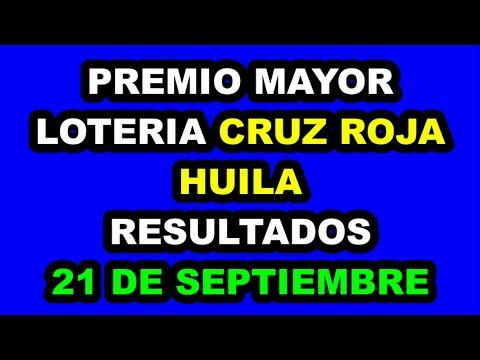 Resultados Lotería de la CRUZ ROJA  Y HUILA del Martes 21 de Septiembre 2021   PREMIO MAYOR