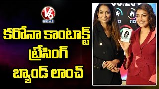 Kajal Agarwal Launches Safezone India's 1st Covid Contact Tracing Device | V6 News - V6NEWSTELUGU