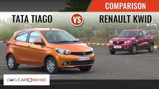 Tata Tiago vs Renault Kwid | Comparison Review