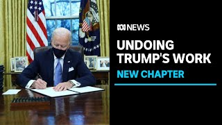 Joe Biden ends funds diverted to Mexico border wall as he signs first executive orders   ABC News