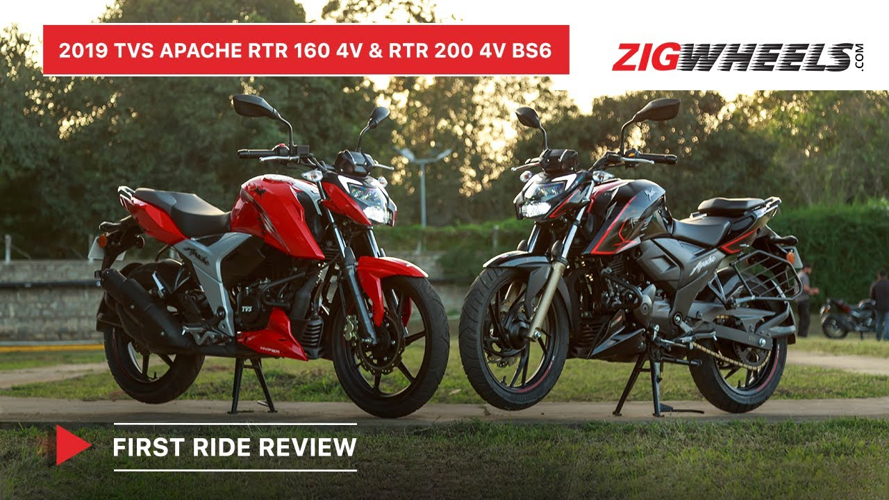 BS6 TVS Apache RTR 160 4V & RTR 200 4V First Ride Review: Specs I Price, Features, Exhaust Note