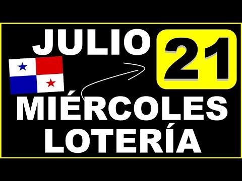 Resultados Sorteo Loteria Miercoles 21 de Julio 2021 Loteria Nacional de Panama Miercolito Que Jugo