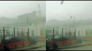 ¡Extremo! Vientos huracanados levantan techos de edificios en Amazonas
