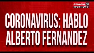 Coronavirus en Argentina: habló Alberto Fernández