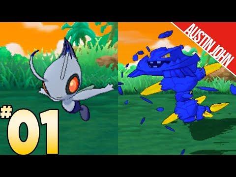 Shadow Celebi, Crystal Onix, Totoro & More! Pokemon ultraLOCKE EP1 | Austin John Plays
