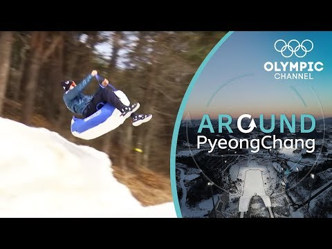 Luge Challenge vs. Chris Mazdzer | Around PyeongChang