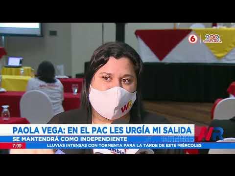 Paola Vega: En el PAC les urgía mi salida