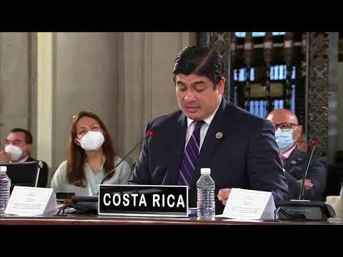 Esos fueron los principales temas que abarcó Carlos Alvarado en la cumbre de la Celac