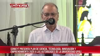 CONICYT Nicaragua presenta plan de trabajo 2020 en la UPOLI