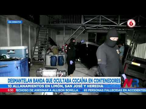 Desmantelan banda que ocultaba cocaína en contenedores