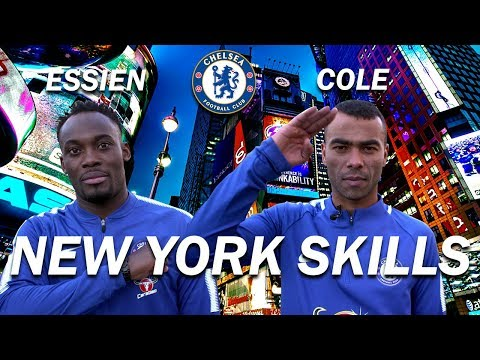 NEW YORK SKILLS CHALLENGE WITH ASHLEY COLE & MICHAEL ESSIEN