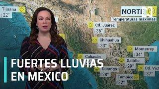Canal de baja presión y línea seca provocarán lluvias en gran parte de México - Las Noticias