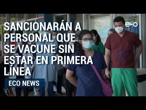 Ministra consejera de salud fiscalizó el proceso de vacunación contra la  Covid-19  | Eco News