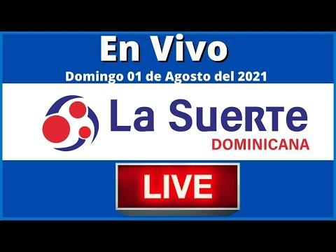 La Suerte Dominicana en vivo Domingo 01 de Agosto del 2021 #todaslasloteriasdominicanas