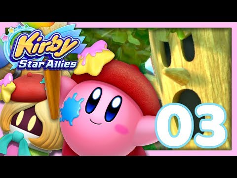 connectYoutube - WHISPY WOODS !  | KIRBY STAR ALLIES EPISODE 3 CO-OP NINTENDO SWITCH FR