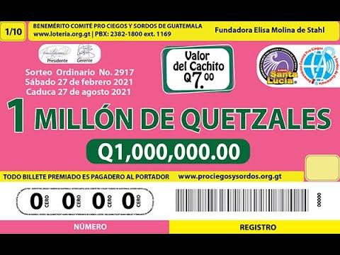 Sorteo Ordinario Millonario No. 2917