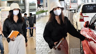 Actress Rashmika Mandanna Spotted At Hyd Airport | Tollywood Celebrities Airport Videos | TFPC - TFPC