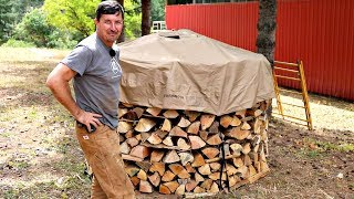 Stacking Cordwood The Proper Way!!!