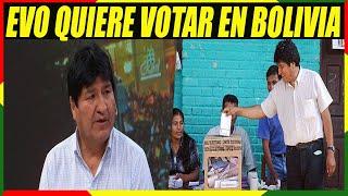 Evo Quiere Regresar a Bolivia Para Votar En Las Elecciones de Mayo