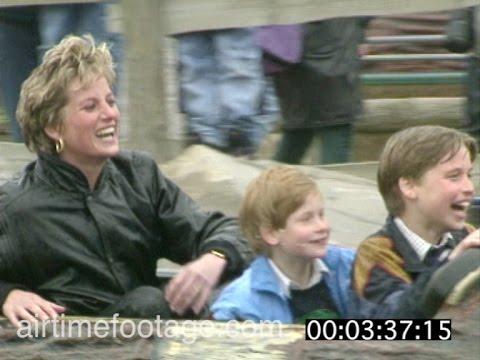 Princess Diana at theme park - timecoded rushes