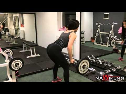 MaXXimum & Twin Challenge Team Eva & Dragica Kotnik na treningu hrbta