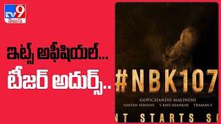 NBK 107 Announced! Nandamuri Balakrishna Joins Hand With Gopichand Malineni - TV9 - TV9
