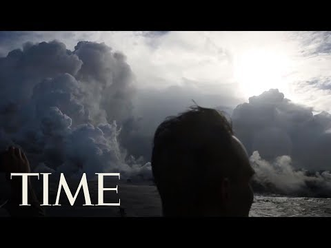 See Lava From Hawaii's Volcano Spew Into The Ocean And Create Toxic 'Laze'   TIME