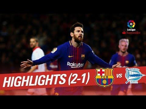 Resumen de FC Barcelona vs Deportivo Alavés (2-1)