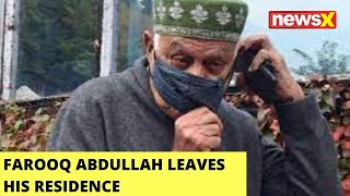 Farooq Abdullah Leaves His Residence For PM's All-Party Meet | NewsX - NEWSXLIVE