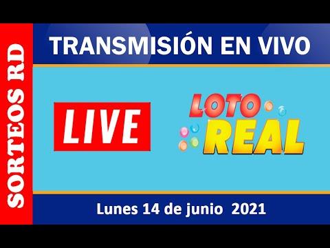 Loterías Real EN VIVO  Lunes 14 de junio 2021 – 1:00 P.M.