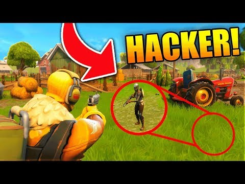 PEOPLE ARE HACKING UNDER THE MAP?!? (Fortnite Battle Royale)