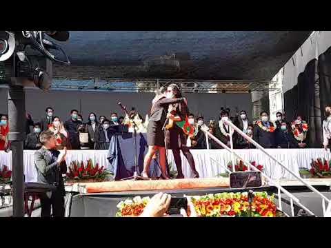 La gran posesión de la flamante alcaldesa de El Alto.Av. Juan Pablo II altura puente distribuido