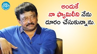 My Family Is Boring To Me - Ram Gopal Varma (RGV) | Dil Se with Anjali | iDream Telugu Movies - IDREAMMOVIES