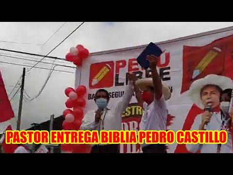 PEDRO CASTILLO FUE POSESIONADO COMO PRESIDENTE DEL PERÚ POR UN PASTOR EVANGÉLICO EN NUEVA CAJAMARCA.