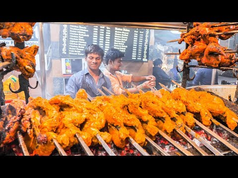 INDIAN STREET FOOD Tour in LUCKNOW with MONSTER BBQ CHICKEN and CHEAP SPICY CURRY !