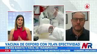 Vacuna de Oxford con 70,4% de efectividad