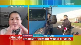 Una enfermera boliviana en Italia logra recuperarse del coronavirus