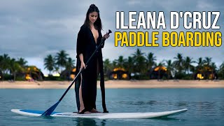 VIRAL VIDEO: Ileana D'Cruz Paddle Boarding On Lake | Actress Ileana latest videos | TFPC - TFPC