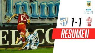 LLUVIA TORRENCIAL Y PARTIDO SUSPENDIDO   At. Tucumán 1-1 Huracán   RESUMEN