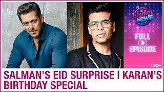 Salman Khan's surprise to fans on Eid | Karan Johar's birthday special | E-Town News - ZOOMDEKHO